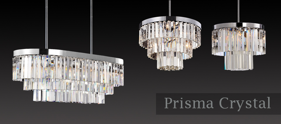 Glass Prism Chandelier