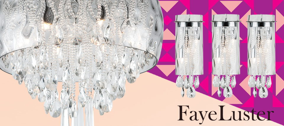 Inspired by winter time charm, these hanging crystals pendants reflect light upon each other and creates sparkling illumination. .Available as 3 styles of pendant, and 2 styles of stunning ceiling fixture.